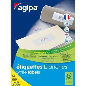 Étiquette classement 1000 étiquettes blanches 21x14,8 cm - 500 feuil...