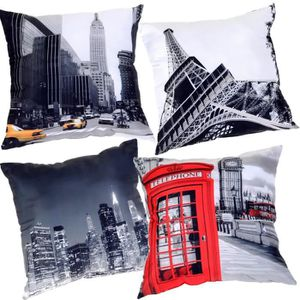 coussin deco new york achat vente coussin deco new york pas cher cdiscount. Black Bedroom Furniture Sets. Home Design Ideas