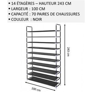 MEUBLE ÉTAGÈRE Meuble Chaussures,No66, Modulable 2 14 Étagères (1