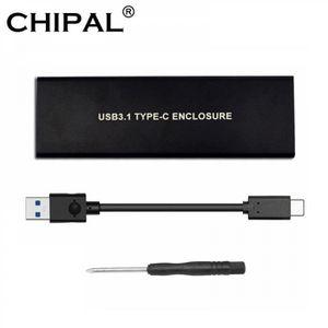 HOUSSE DISQUE DUR EXT. CHIPAL USB 3.1 type-c à NGFF M.2 M clé NVME PCIe b