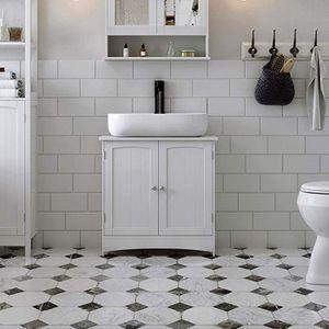 MEUBLE VASQUE - PLAN Huansee Meuble sous lavabo Armoire de Rangement Me