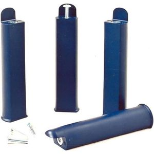 PIED DE LIT Jeu de 4 pieds 22 cm bleus pour cadre à lattes