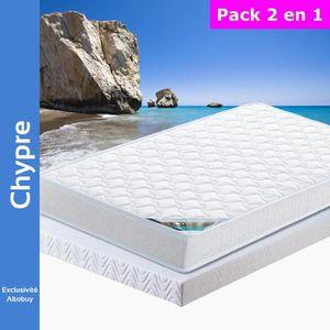 ENSEMBLE LITERIE Chypre - Pack Matelas + AltoFlex 140x190