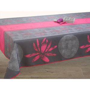 NAPPE DE TABLE Nappe anti-tache rectangulaire 240 cm Lotus Fuschi