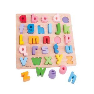 PUZZLE Puzzle alphabet Minuscule Bois pièces épaisses