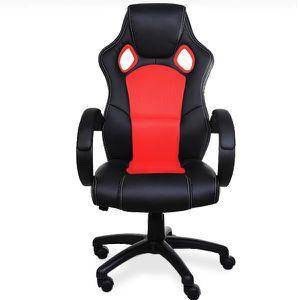 CHAISE DE BUREAU Fauteuil de bureau rouge et noir - Sport - Chaise