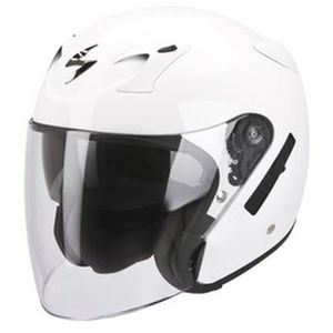CASQUE MOTO SCOOTER SCORPION Exo-220 Casque Jet Blanc Brillant