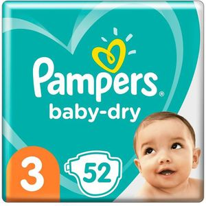 COUCHE LOT DE 7 - PAMPERS : Baby-Dry Géant - Couches Pamp