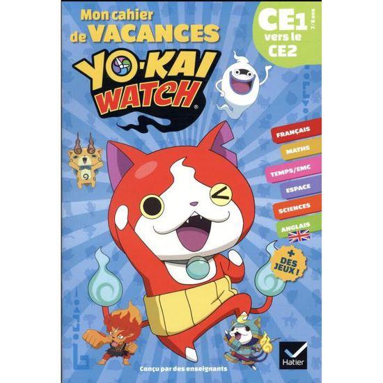 Livre Mon Cahier De Vacances Yo Kai Watch Ce1 Vers Le