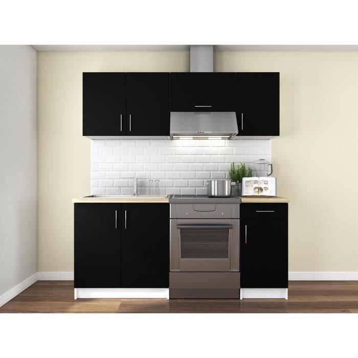 obi cuisine compl te l 1m80 noir mat achat vente cuisine compl te obi cuisine compl te. Black Bedroom Furniture Sets. Home Design Ideas