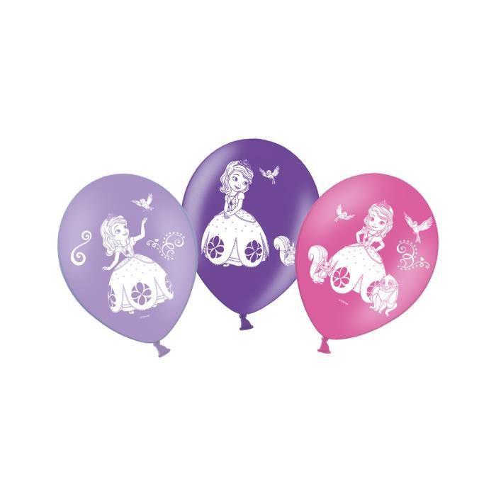10 Ballons en latex Princesse Sofia