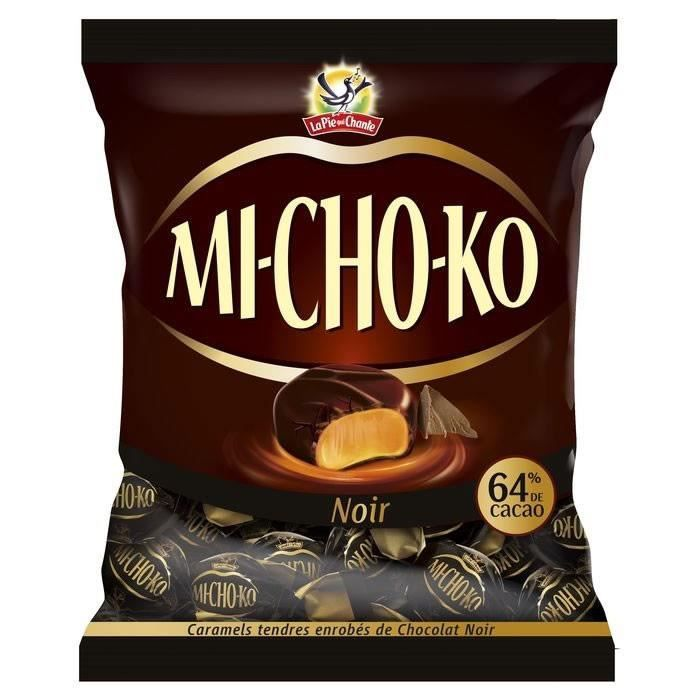 LOT DE 12 - MICHOKO : Caramels enrobés de chocolat noir 280 g