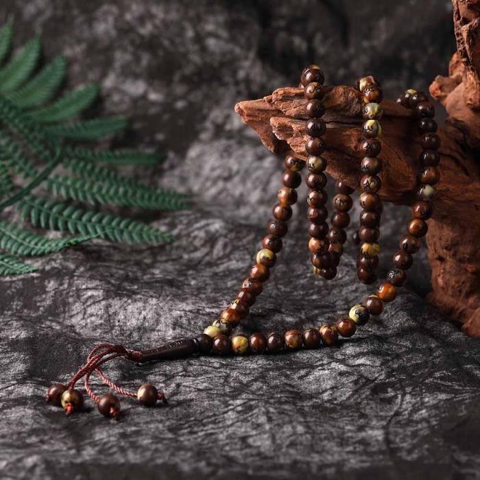 99 perles de chapelet en résine de 8mm, Bracelet de perles pour femmes musulmanes Tasbih perles de forme ronde perles de [C6C4690]
