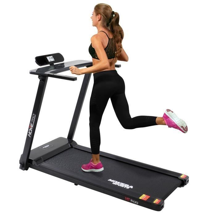 Tapis de Course Pliable Électrique Professionel - Tapis Roulant Sport - Fitness - 12 Programmes, Mesure Fréquence Cardiaque