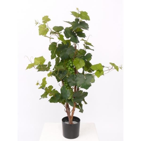 Pied de vigne artificielle en pot, 80 feuilles, 60 cm, extérieur - Vigne plastique - plante artificielle - artplants