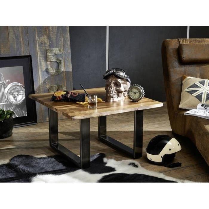 Table basse carrée 80x80cm - Bois massif de palissandre laqué (Noble Unique) - SYDNEY #0200