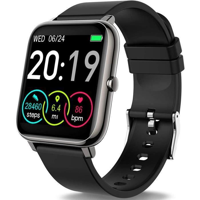 Motast Montre Connectée Femmes Homme, Smartwatch Vibrante pour Appel Message Montre Intelligente Etanche IP67 Trackers d'Activité Po