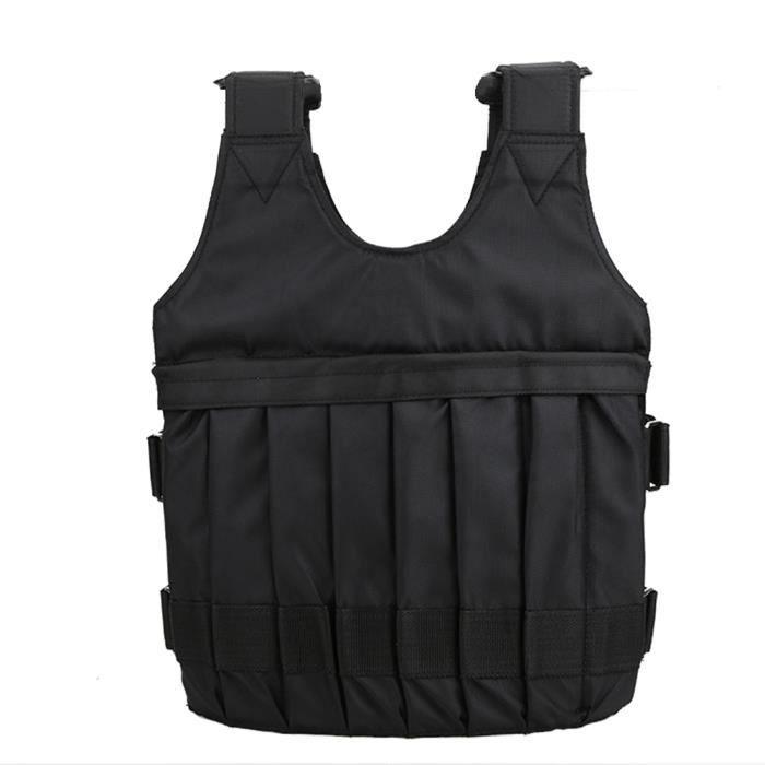 Tissu Oxford respirant 20KG lesté veste de formation de force de gilet pour l'entraînement fitness Bon Matériel -TUN