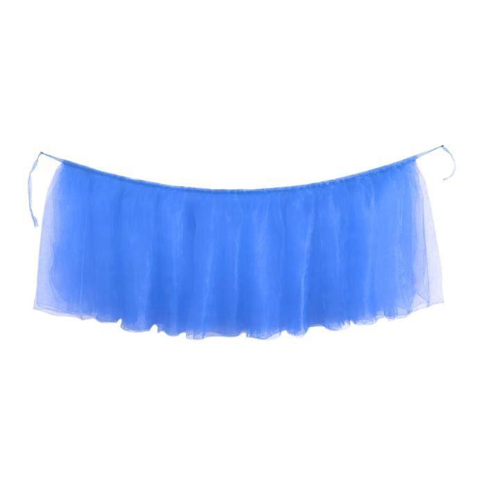 Bleu marin Nappe de couleur unie, 1 pièce, couverture de Table, jupe de Table, décor confortable pour fête d'