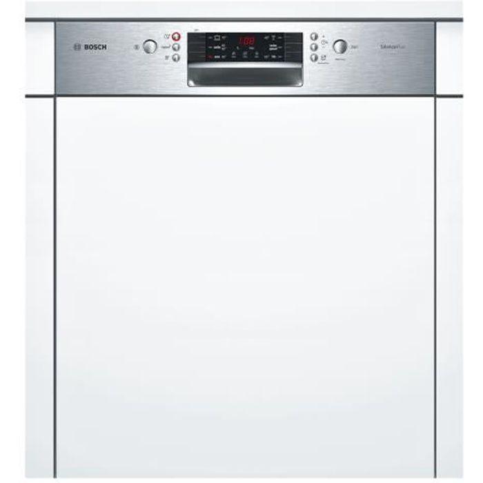 Bosch Serie - 4 SilencePlus SMI46GS01E Lave-vaisselle intégrable Niche largeur : 60 cm profondeur : 55 cm hauteur : 81.5 cm gris