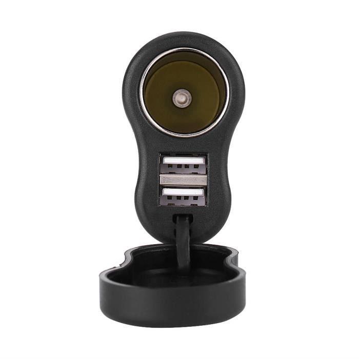 EBTOOLS Adaptateur USB 12-24V 3.3A Allume-Cigare Adaptateur Secteur Double Chargeur USB Moto pour BMW Hella DIN Plug