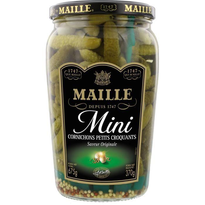 MAILLE L'Original Cornichons Mini Bocal - 370 g
