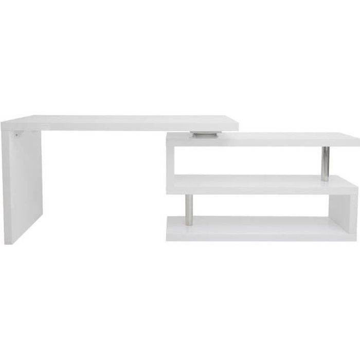 Bureau design blanc laqué amovible MAX