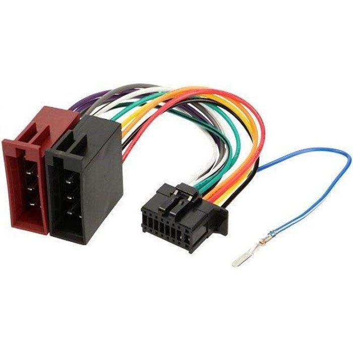 Cable adaptateur ISO autoradio Pioneer DEH-1600MP DEH-1600UB DEH-1600UBB DEH-1620UB