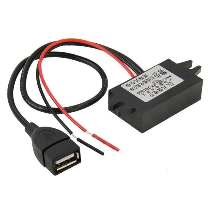 Convertisseur de tension Voiture 12V 5V Adaptateur USB alimentation Chargeur abaisseur Module DC-DC GPS Enregistreur véhicule