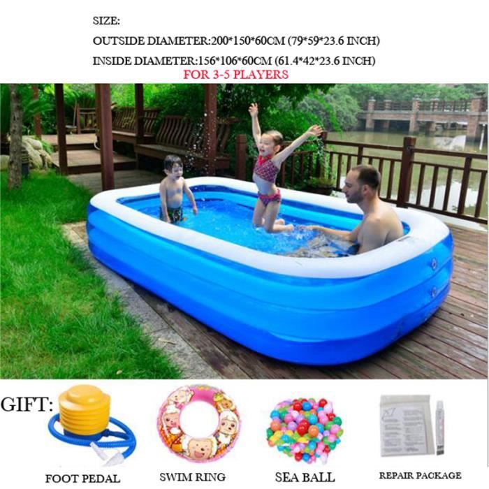 2 m tres piscine gonflable piscine familiale adulte jeu d for Piscine gonflable adulte