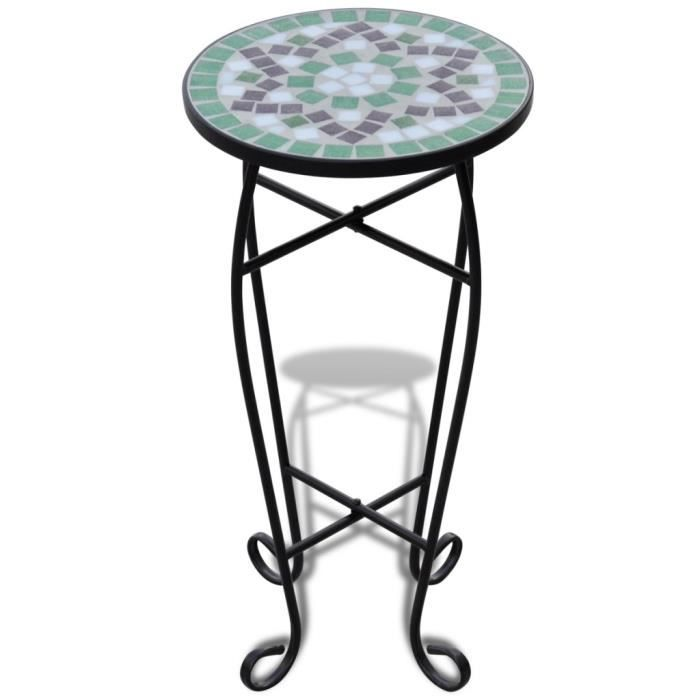 magnifique table d 39 appoint mosaique vert et blanc achat vente table d 39 appoint magnifique. Black Bedroom Furniture Sets. Home Design Ideas