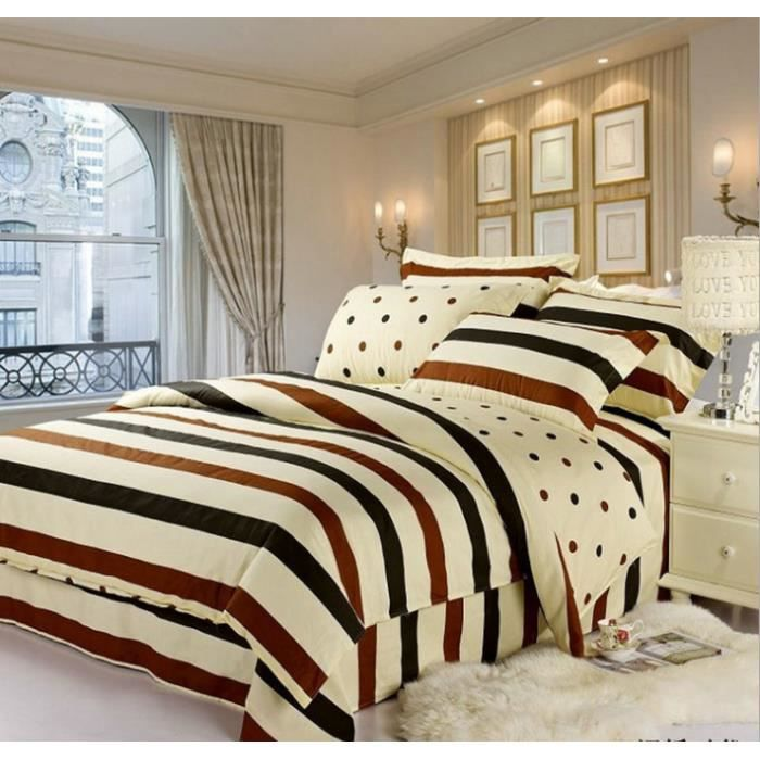 housse de couette de marque bedding set 2 taies 240 x 220 cm 011 achat vente parure de. Black Bedroom Furniture Sets. Home Design Ideas