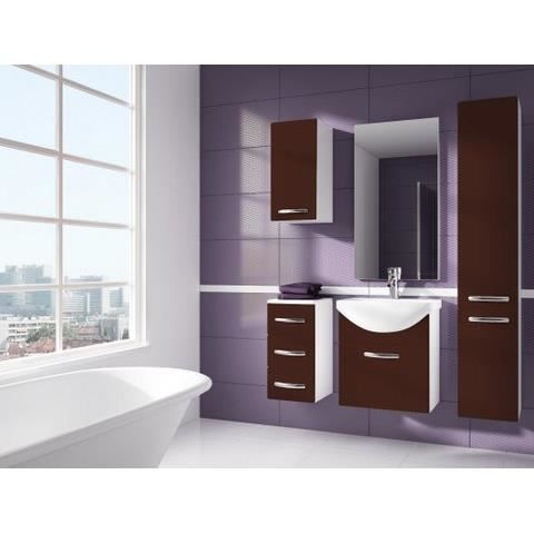 iris chocolat salle de bain 1m20 6 elements achat. Black Bedroom Furniture Sets. Home Design Ideas
