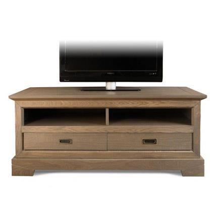 meuble tv bas 2 tiroirs en ch ne achat vente meuble tv meuble tv bas 2 tiroirs en cdiscount. Black Bedroom Furniture Sets. Home Design Ideas