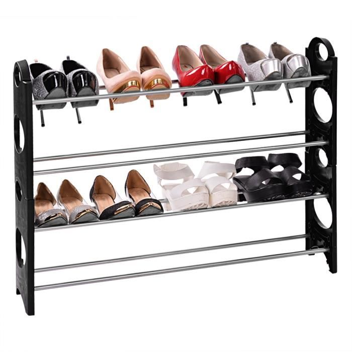 meuble chaussure patin r glable grilles rack organisateur achat vente meuble chaussures. Black Bedroom Furniture Sets. Home Design Ideas