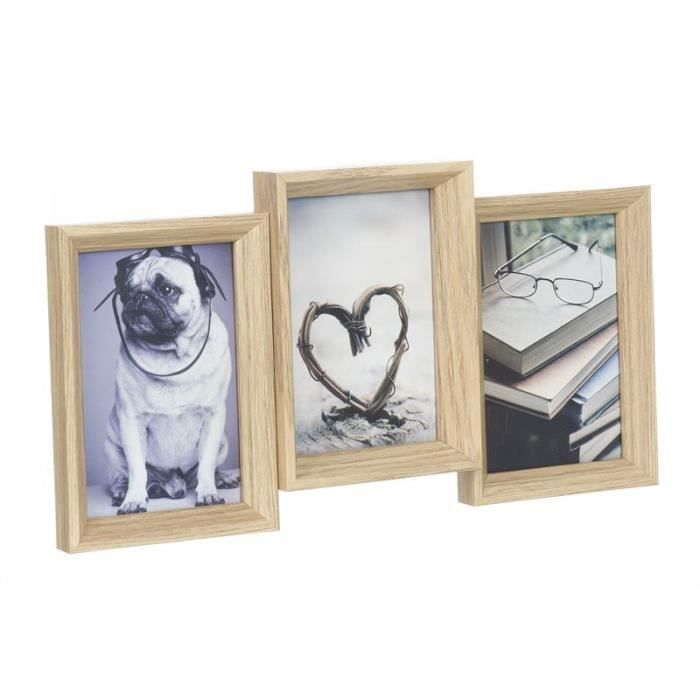 cadre photo bois multiple 10x15 cm achat vente cadre photo cdiscount. Black Bedroom Furniture Sets. Home Design Ideas