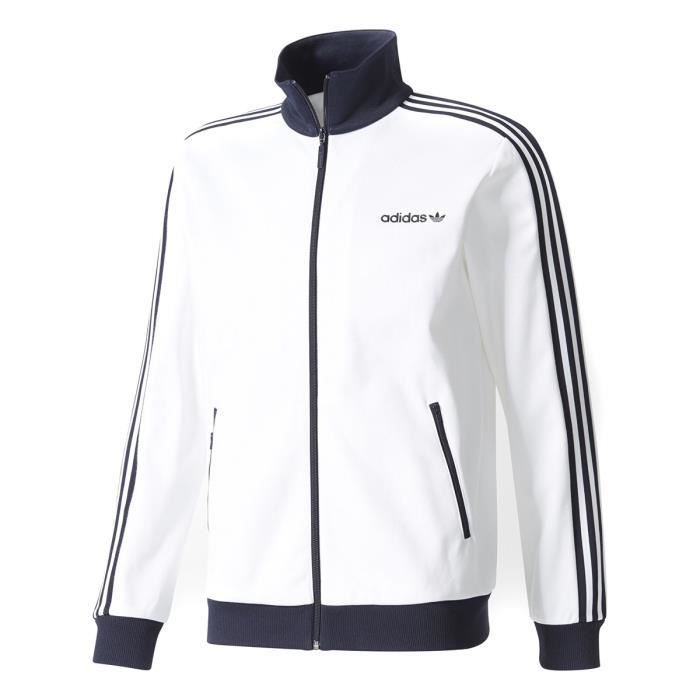 2018 sneakers new lower prices top design Adidas Beckenbauer Track Top Blanc, Veste Survetement Homme ...