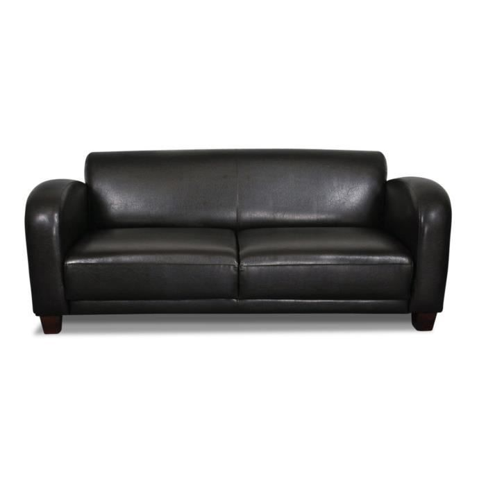 canap 3 places club reno noir achat vente canap sofa divan cdiscount. Black Bedroom Furniture Sets. Home Design Ideas