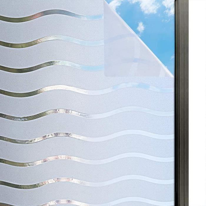 Film de Fen/êtres Adhesif R/éutilisables Film Statique Anti UV pour Bureau Fen/être en Verre 30 X 200CM Fen/êtres en Verre D/époli Film