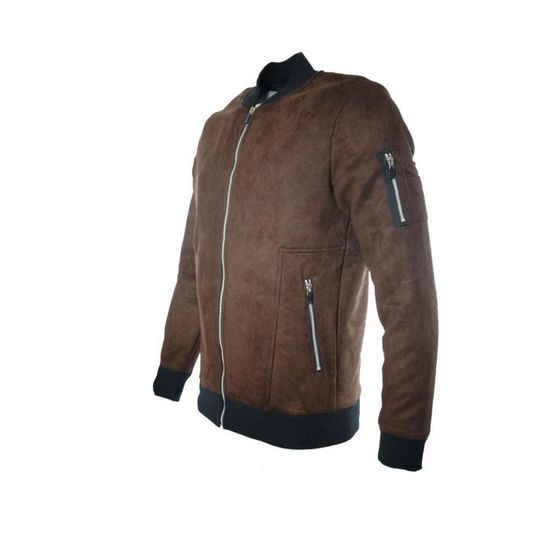 Denim mr 163016 Daim Homme Teddy Effet Marron Veste Gov qa1TnwCx