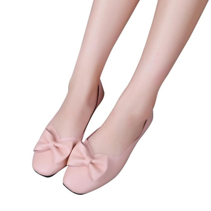 Shoes Bout Pointu Plat Talon Tissu Femme On blanc En Extensible Casual Chaussures Slip XwqPIBw