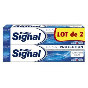 SIGNAL Dentifrice Expert Protection Blancheur - 2x75ml