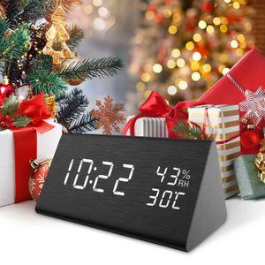 Radio réveil Réveil Numérique LED, Sound Control LED Alarm Cloc
