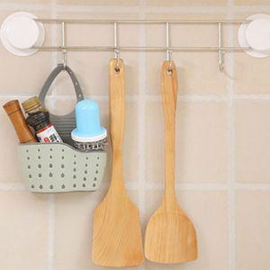 support de stockage Triangle /étag/ère multifonctionnelle de stockage de drain de vidange cuisine /éponges organisateur plateau Beige /Évier de cuisine panier dangle