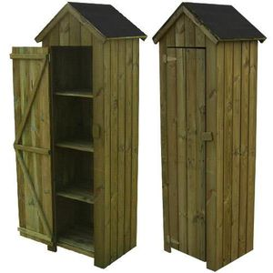 armoire de jardin en bois achat vente armoire de. Black Bedroom Furniture Sets. Home Design Ideas