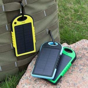 BATTERIE EXTERNE Chargeur solaire 5000 Mah Double Powerbank USB Cha