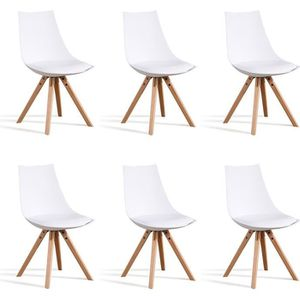 CHAISE Lot 6 chaises blanches