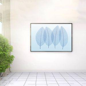 1 Pc Sans Cadre Créatif Moderne Bleu Clair Laisse Peinture à