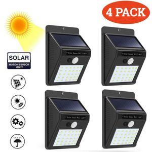 APPLIQUE EXTÉRIEURE UK STOCK 4 pcs Applique Lampe Murale 30 LED Éclair