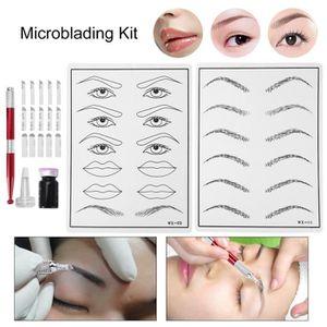 AIGUILLE DE TATOUAGE Microblading Permanent maquillage sourcils Kit de